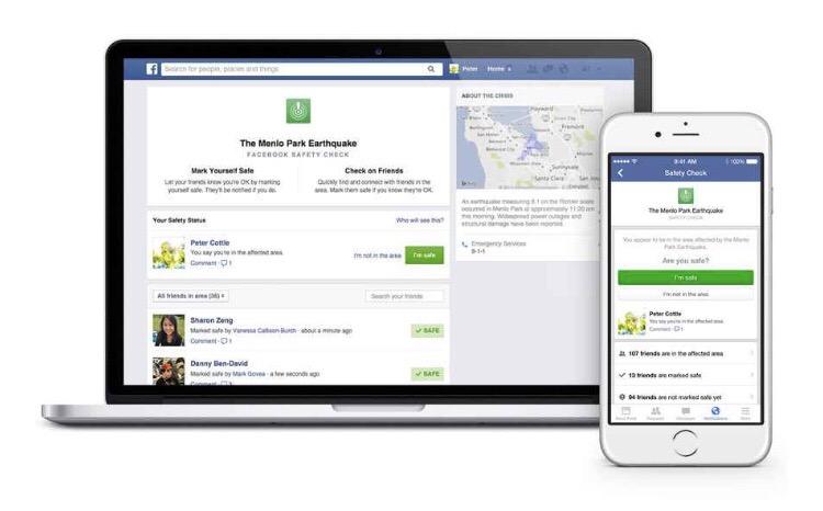 Facebook activa Safety Check en México tras el sismo de 7.1 grados