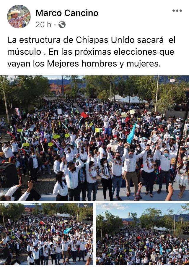 "Despite the pandemic, ""Chiapas Unido"" organized a mega rally in San Cristóbal de Las Casas WhatsApp Image 2021 03 15 at 1.17.52 PM"