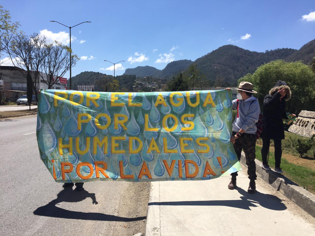 World Water Day: Citizens demonstrate for the San Cristóbal Wetlands, in the fight for their conservation.